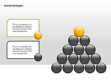 Internet Strategy Diagram, Slide 9, 00042, Process Diagrams — PoweredTemplate.com