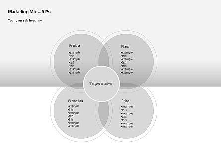 Marketing Mix Diagram, Slide 2, 00043, Business Models — PoweredTemplate.com