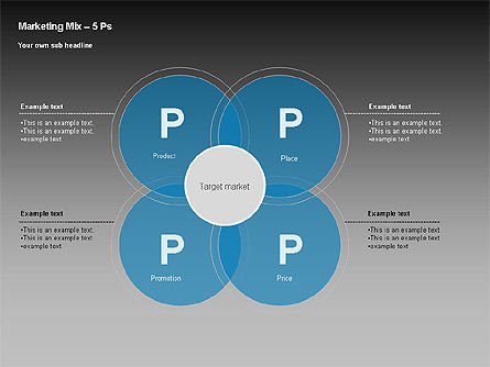 Marketing Mix Diagram, Slide 3, 00043, Business Models — PoweredTemplate.com