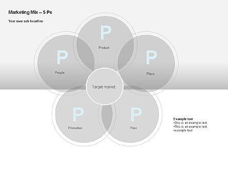 Marketing Mix Diagram, Slide 4, 00043, Business Models — PoweredTemplate.com