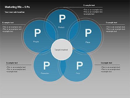 Marketing Mix Diagram, Slide 6, 00043, Business Models — PoweredTemplate.com