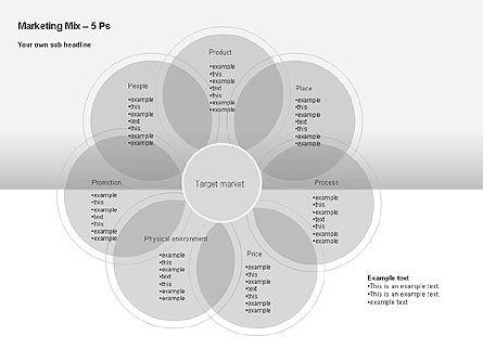 Marketing Mix Diagram, Slide 8, 00043, Business Models — PoweredTemplate.com