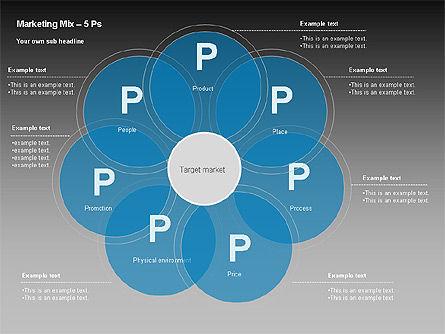 Marketing Mix Diagram, Slide 9, 00043, Business Models — PoweredTemplate.com