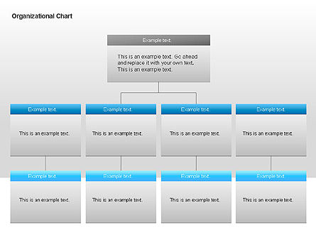 Organizational Charts with Text Boxes, Slide 10, 00045, Organizational Charts — PoweredTemplate.com