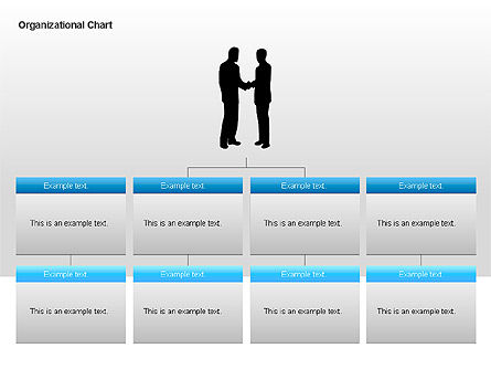 Organizational Charts with Text Boxes, Slide 11, 00045, Organizational Charts — PoweredTemplate.com