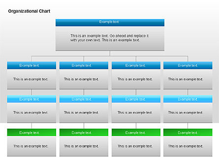 Organizational Charts with Text Boxes, Slide 13, 00045, Organizational Charts — PoweredTemplate.com