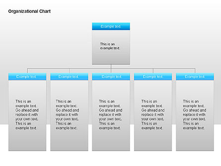 Organizational Charts with Text Boxes, Slide 14, 00045, Organizational Charts — PoweredTemplate.com
