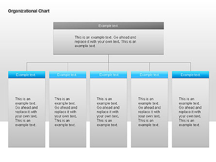 Organizational Charts with Text Boxes, Slide 15, 00045, Organizational Charts — PoweredTemplate.com