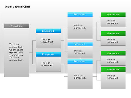 Organizational Charts with Text Boxes, Slide 16, 00045, Organizational Charts — PoweredTemplate.com