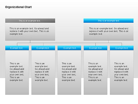 Organizational Charts with Text Boxes, Slide 17, 00045, Organizational Charts — PoweredTemplate.com