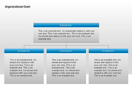 Organizational Charts with Text Boxes, Slide 2, 00045, Organizational Charts — PoweredTemplate.com