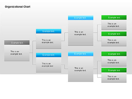 Organizational Charts with Text Boxes, Slide 20, 00045, Organizational Charts — PoweredTemplate.com