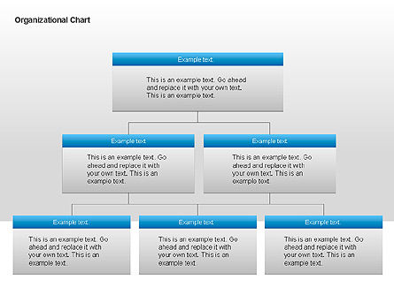 Organizational Charts with Text Boxes, Slide 3, 00045, Organizational Charts — PoweredTemplate.com