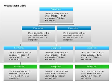 Organizational Charts with Text Boxes, Slide 6, 00045, Organizational Charts — PoweredTemplate.com