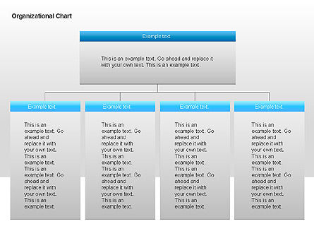 Organizational Charts with Text Boxes, Slide 8, 00045, Organizational Charts — PoweredTemplate.com