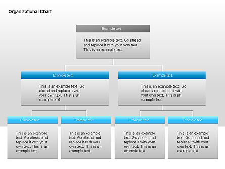 Organizational Charts with Text Boxes, Slide 9, 00045, Organizational Charts — PoweredTemplate.com
