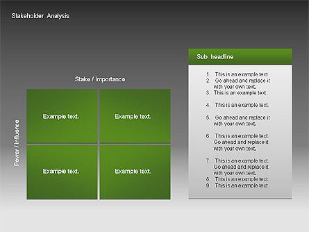 Stakeholder Analysis Charts, Slide 8, 00046, Business Models — PoweredTemplate.com