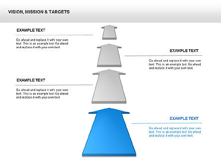 Business Models: Vision, Mission & Targets Diagram #00047