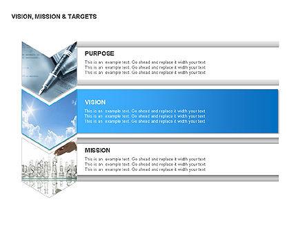 Vision, Mission & Targets Diagram, Slide 10, 00047, Business Models — PoweredTemplate.com