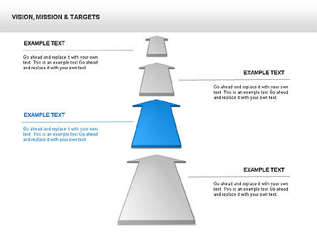 Vision Mission & Targets Diagram, Slide 2, 00047, Business Models — PoweredTemplate.com