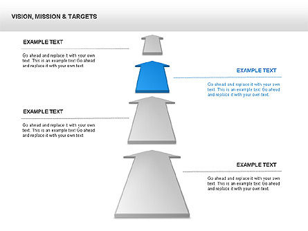 Vision Mission & Targets Diagram, Slide 3, 00047, Business Models — PoweredTemplate.com