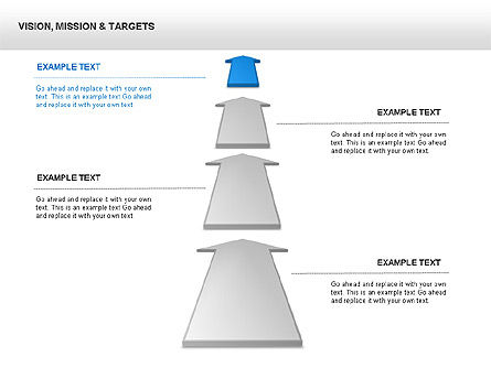 Vision Mission & Targets Diagram, Slide 4, 00047, Business Models — PoweredTemplate.com