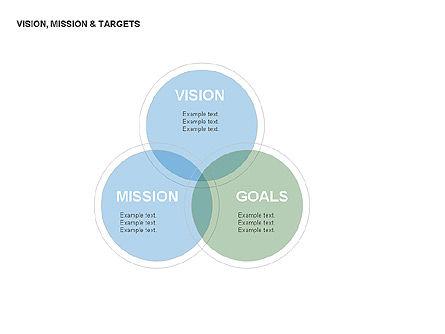Vision, Mission & Targets Diagram, Slide 8, 00047, Business Models — PoweredTemplate.com