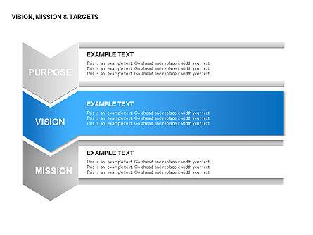Vision, Mission & Targets Diagram, Slide 9, 00047, Business Models — PoweredTemplate.com