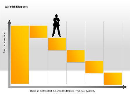 Waterfall Diagrams, Slide 7, 00048, Business Models — PoweredTemplate.com