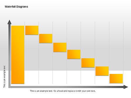 Waterfall Diagrams, Slide 9, 00048, Business Models — PoweredTemplate.com
