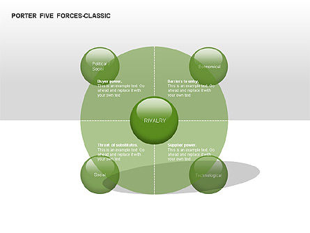 Porter 5 Forces Classic Diagram, Slide 2, 00049, Business Models — PoweredTemplate.com