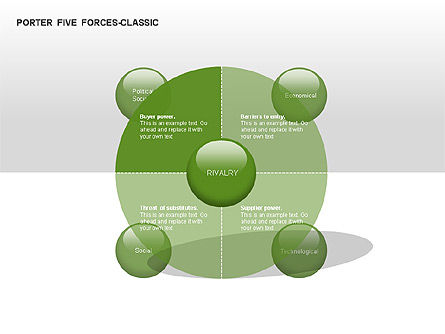 Porter 5 forces classic diagram for powerpoint for Porter five forces template word