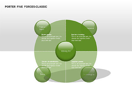 Porter 5 Forces Classic Diagram, Slide 4, 00049, Business Models — PoweredTemplate.com
