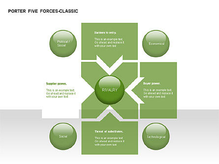 Porter 5 Forces Classic Diagram, Slide 7, 00049, Business Models — PoweredTemplate.com
