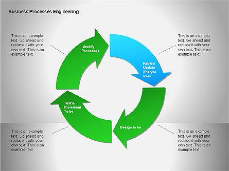 Business Process Re-engineering Diagram, Slide 10, 00052, Process Diagrams — PoweredTemplate.com