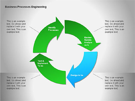 Business Process Re-engineering Diagram, Slide 11, 00052, Process Diagrams — PoweredTemplate.com