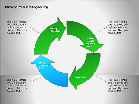 Business Process Re-engineering Diagram, Slide 12, 00052, Process Diagrams — PoweredTemplate.com