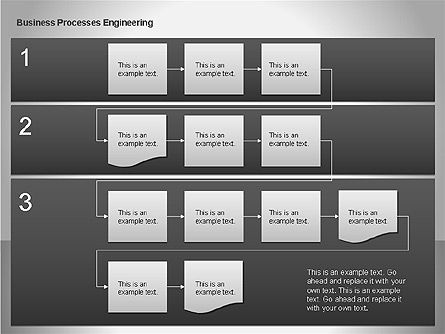Business Process Re-engineering Diagram, Slide 13, 00052, Process Diagrams — PoweredTemplate.com