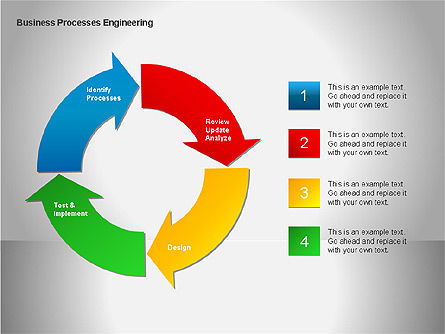 Business Process Re-engineering Diagram, Slide 14, 00052, Process Diagrams — PoweredTemplate.com