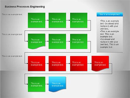 Business Process Re-engineering Diagram, Slide 15, 00052, Process Diagrams — PoweredTemplate.com