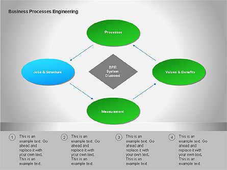 Business Process Re-engineering Diagram, Slide 2, 00052, Process Diagrams — PoweredTemplate.com