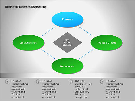 Business Process Re-engineering Diagram, Slide 3, 00052, Process Diagrams — PoweredTemplate.com