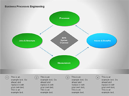 Business Process Re-engineering Diagram, Slide 4, 00052, Process Diagrams — PoweredTemplate.com