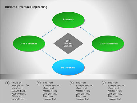 Business Process Re-engineering Diagram, Slide 5, 00052, Process Diagrams — PoweredTemplate.com