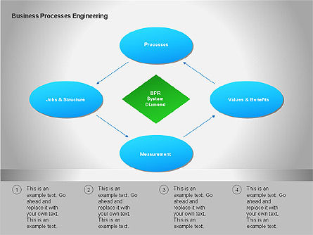 Business Process Re-engineering Diagram, Slide 7, 00052, Process Diagrams — PoweredTemplate.com