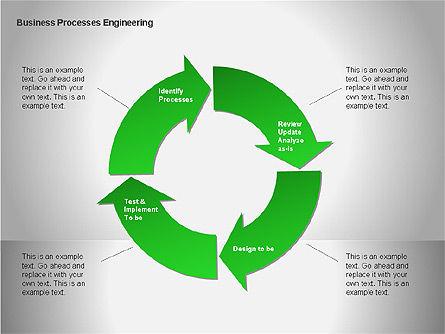 Business Process Re-engineering Diagram, Slide 8, 00052, Process Diagrams — PoweredTemplate.com
