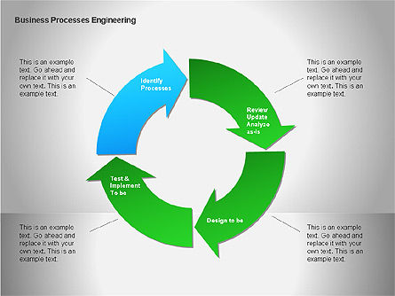 Business Process Re-engineering Diagram, Slide 9, 00052, Process Diagrams — PoweredTemplate.com