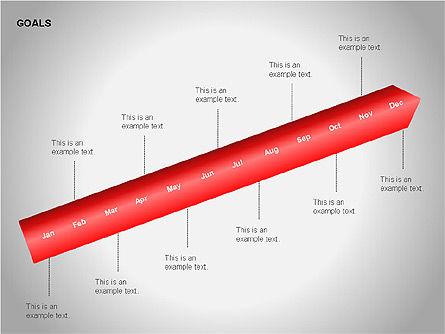 Goals Diagram, Slide 13, 00053, Graph Charts — PoweredTemplate.com