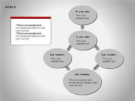 Goals Diagram, Slide 14, 00053, Graph Charts — PoweredTemplate.com