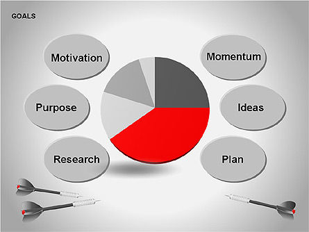 Goals Diagram, Slide 15, 00053, Graph Charts — PoweredTemplate.com